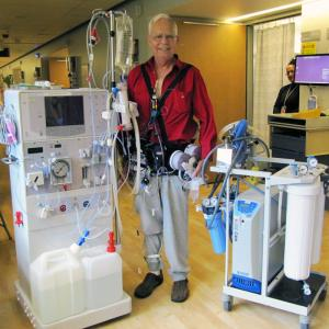 Chuck Lee Wearable artificial kidney patient trial